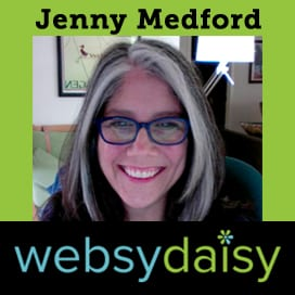 Jenny Medford, founder of Websy Daisy featured